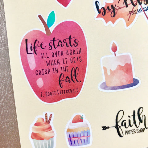 Painted Autumn - Scripture Stickers