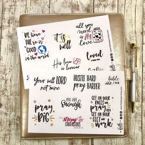 Bold Words - Scripture Stickers