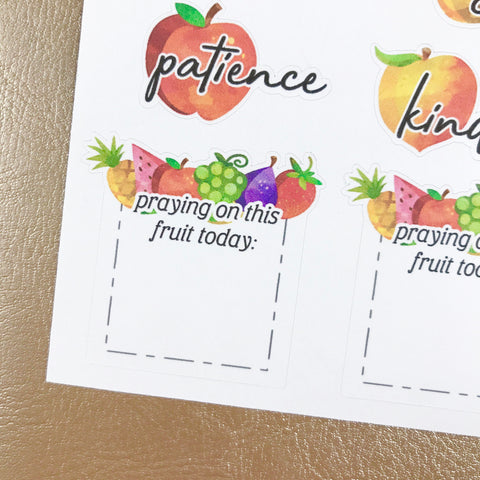 Fruit of the Spirit - Scripture Stickers
