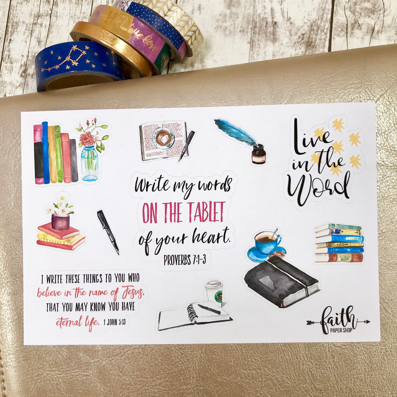 Writing the Word - Scripture Stickers - Faith Paper Shop