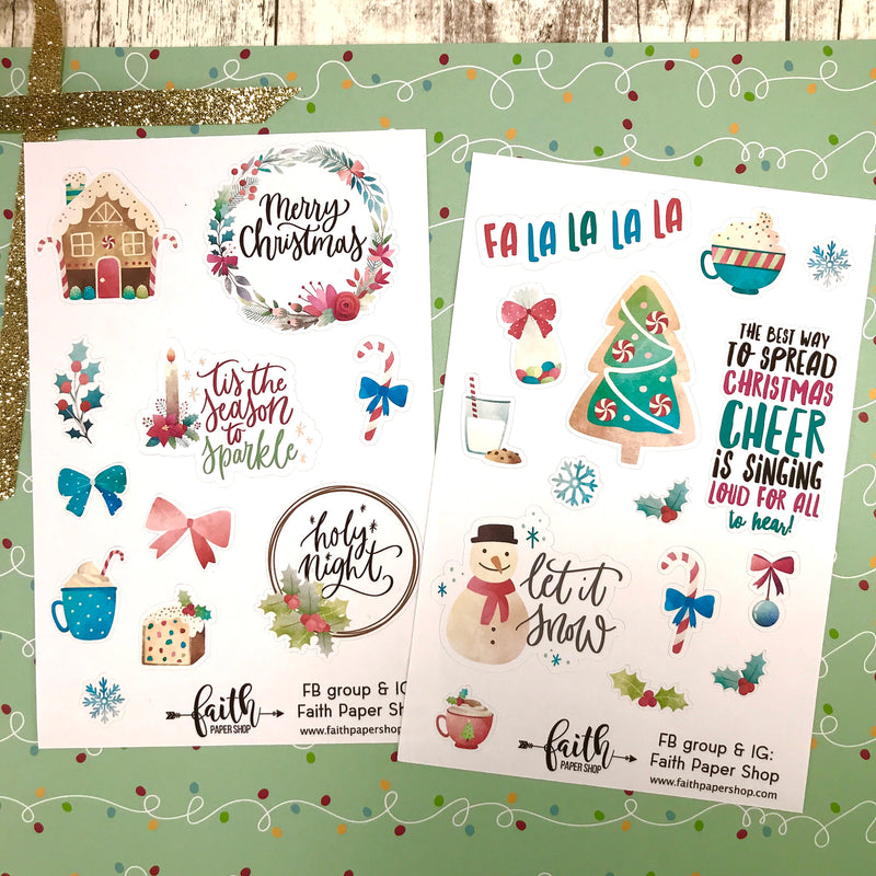 Christmas Stickers - Bright - Faith Paper Shop