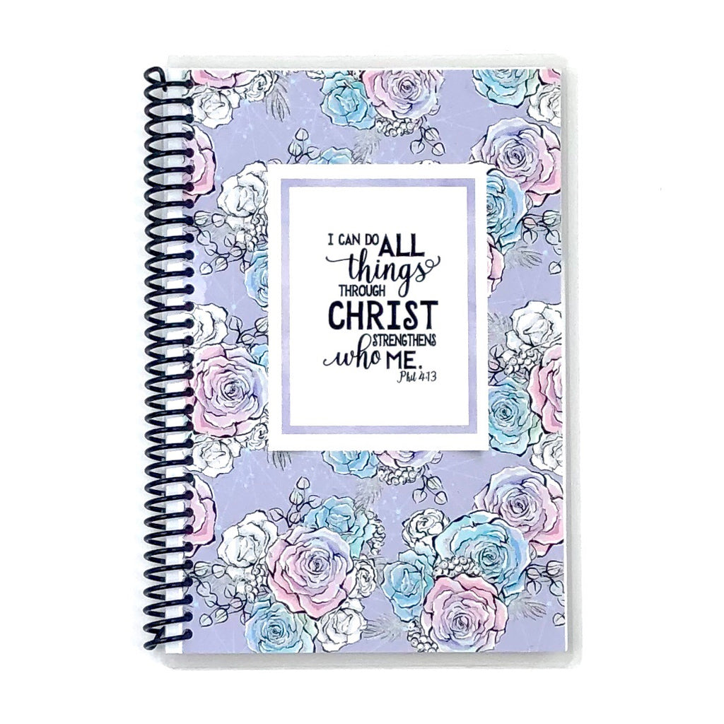 ladies custom faith journal with scripture