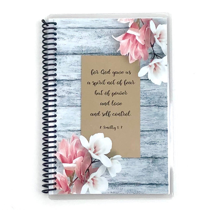 Custom Christian Journal - Gray Floral