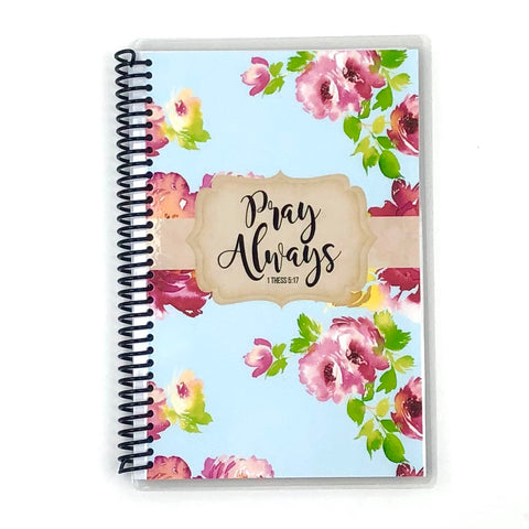Prayer Journal - Light Blue Floral