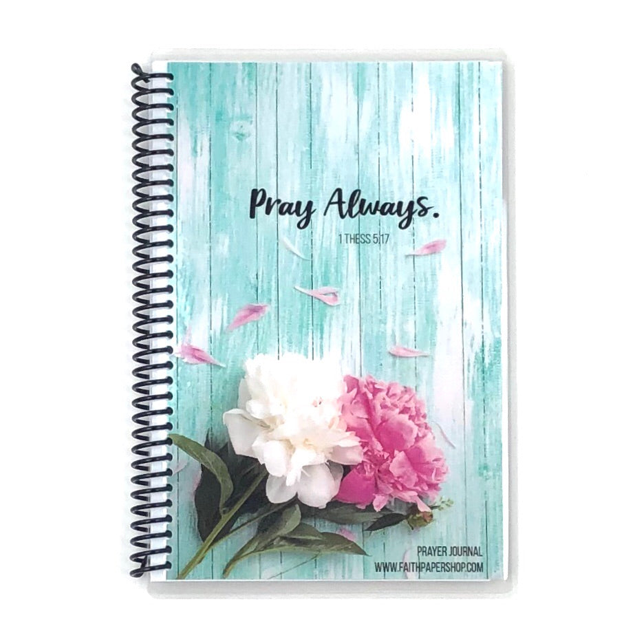 Prayer Journal - Aqua Peony
