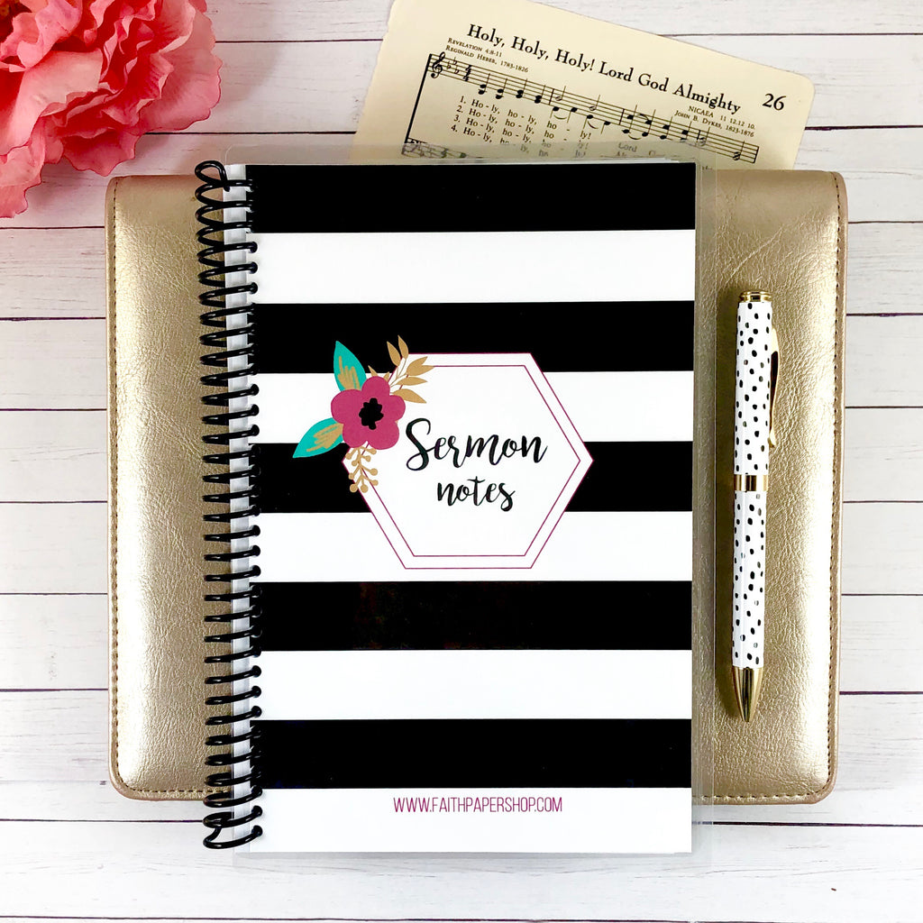 womens sermon notes journal