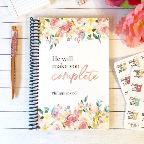 Custom Christian Journal - Philippians 1:6