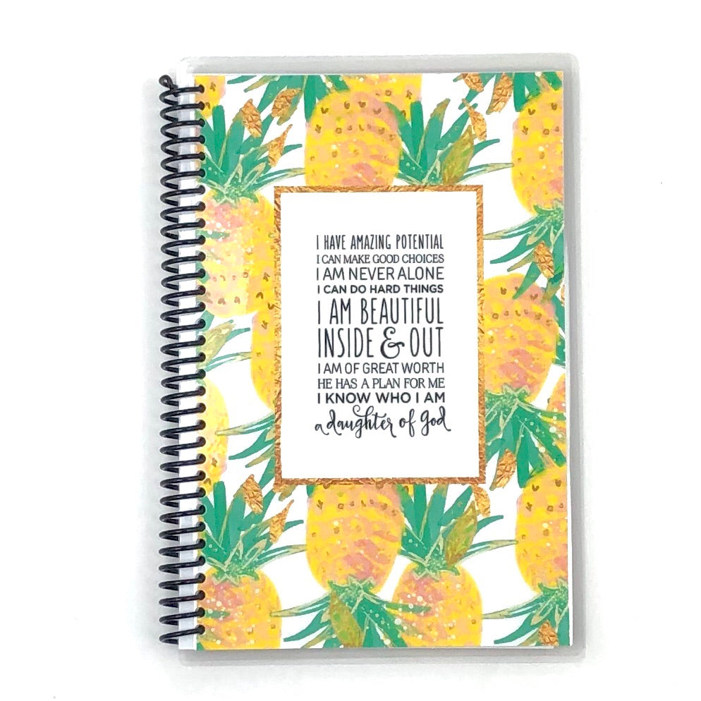 pineapple custom faith journal cover