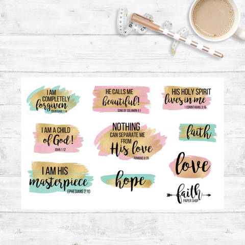 My Identity in Christ - Scripture Stickers