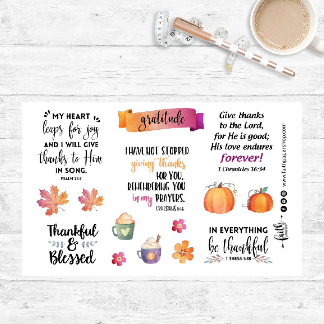 Gratitude - Scripture Stickers