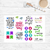Wake Pray Slay - Scripture Stickers - Faith Paper Shop