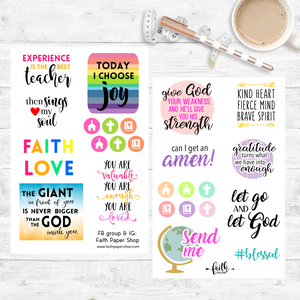 Bright Inspiration - Scripture Stickers - Faith Paper Shop