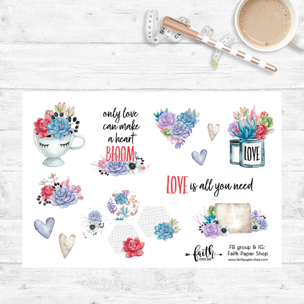 Cactus Bloom - Scripture Stickers