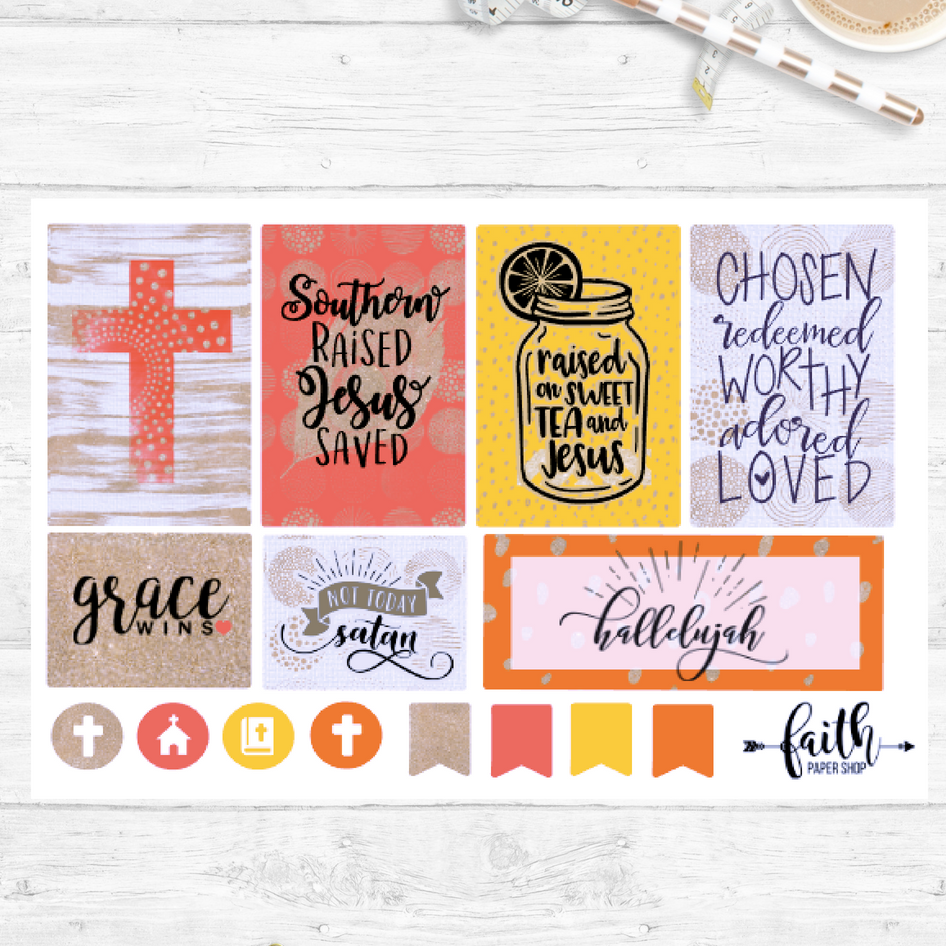 Faith Stickers - Grace
