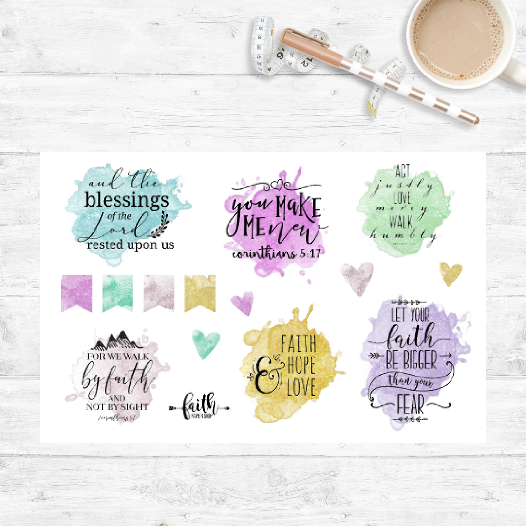 Shimmer Blast - Scripture Stickers
