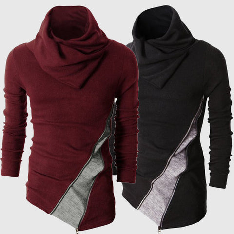 Mens Trendy Slim Baggy Turtleneck Long Sleeve Shirt
