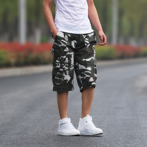 Mens Camo Baggy Shorts