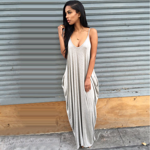 Beautiful Loose Sleeveless Long Summer Dress