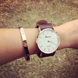 Trendy White Big Face Band Stylish Watch