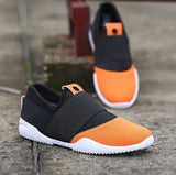 Mens Breathable No Lace Running Shoes