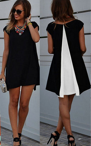 Lovely Casual Chiffon Summer Mini Dress