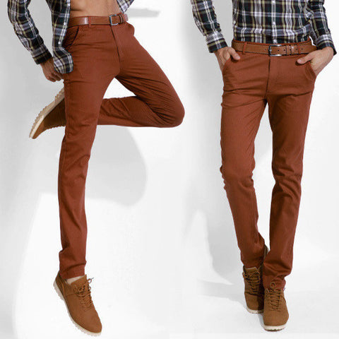 Mens Casual Straight Pants