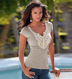 Charming Grey Cool Casual Design T-Shirt