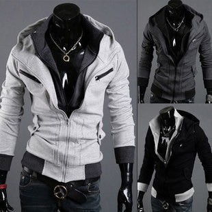 Mens Collared Slim Hooded Jacket