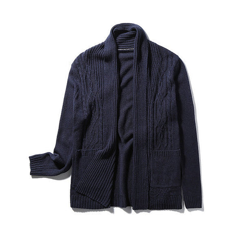 Mens Comfortable Knitted Cardigan Sweater