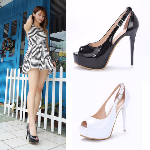 Cool Stylish Peep Toe Party Slingback Stiletto High Heels