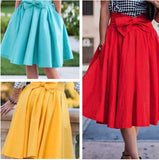 Cute Bow Ribbon Casual Slim Skirt