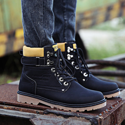 Mens Edgy Tall Straps Boots