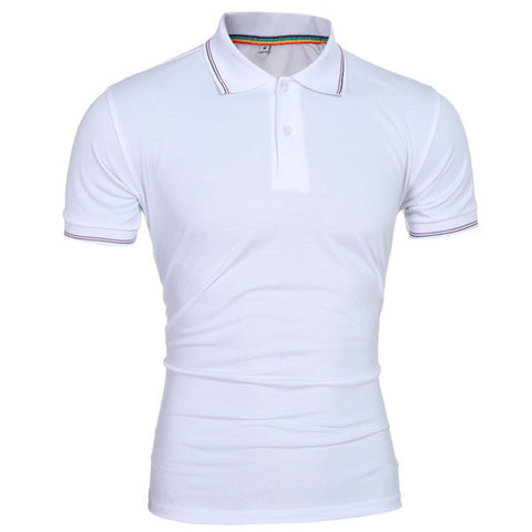 Mens Casual Slim Polo