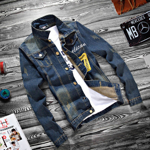 Mens Slim Hip Denim Jacket