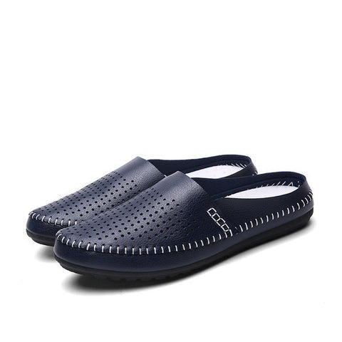 Mens Casual Perforated Slip-On Shoes