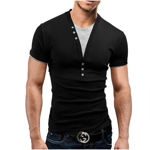Mens Cool Plunging V-Neck Tee