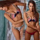 Lovely Design Print Stylish Swimsuit Bikini