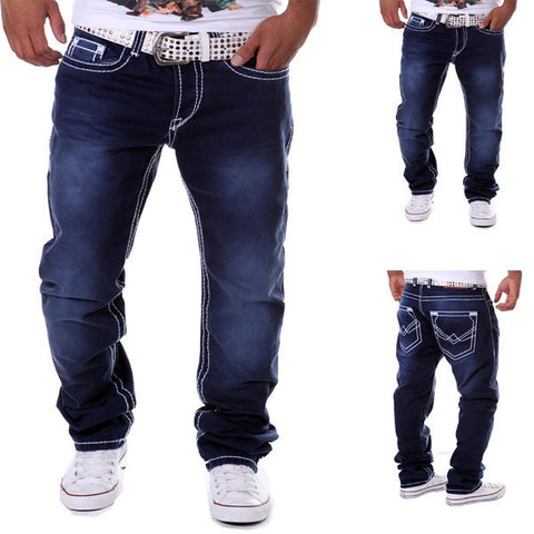 Mens Baggy Stitch Outline Pants