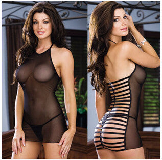 Stunning Slim Tight Mesh Robe Lingerie