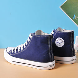 Mens High Top Canvas Style Sneakers