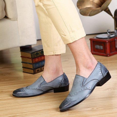 Mens Cool Brogue Loafer Casual Boots