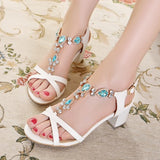 Womens Stylish Jewel Sandal Heels