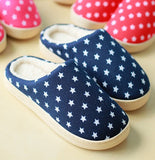 Mens Star Print Casual House Slippers