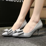 Womens Cute Ribbon Heels