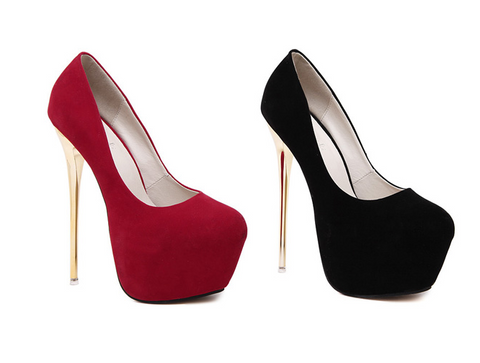 Womens Sexy Close Toe Pumps Platform Stilettos High Heels