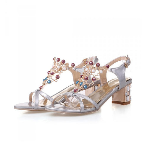 Womens Stylish Unique Heels Sandals