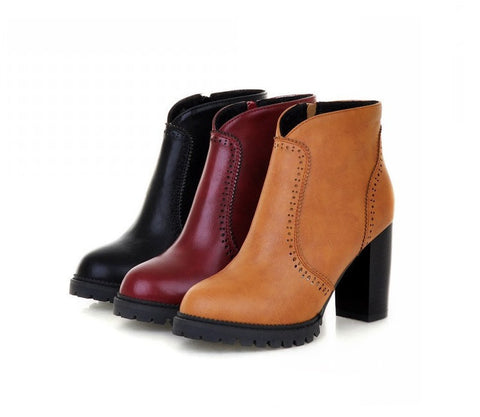 Womens Trendy Heel Boots