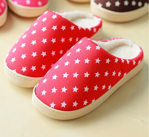 Womens Star Print Casual House Slippers