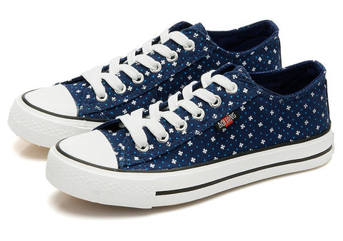 Womens Casual Canvas Designed Sneakers