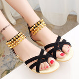 Lovely Open Toe Bead Ankle Summer Sandals